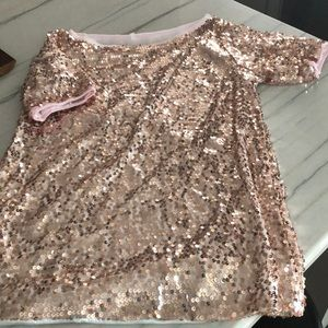 Rose gold lined sequins top size medium